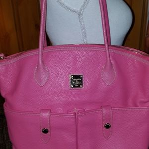DOONEY BOURKE  XL EAST/WEST PINK PEBBLED LEATHER S